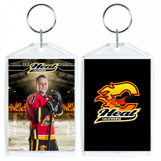M - 2 Key Chains - Individual Picture