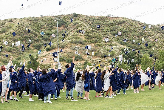 2020 Saugus High School Cap Toss